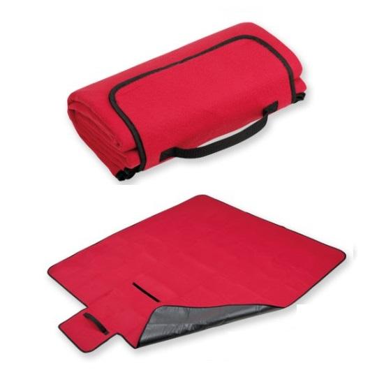 Rekl Pikniková deka PAT 140x130cm - červená