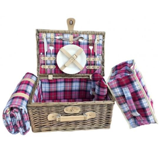 British Piknikový koš MORAY FIRTH proutěný pro 2 osoby s dekou