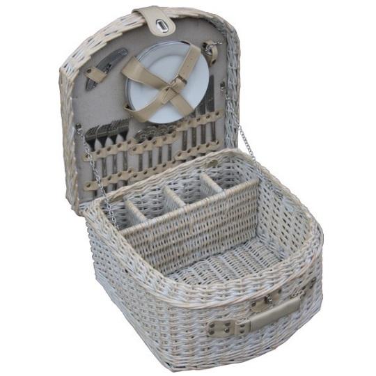 British Piknikový koš SANDOWN proutěný pro 4 osoby