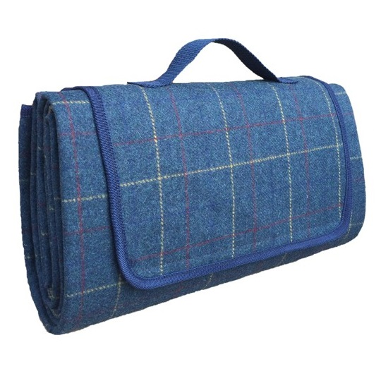 British Pikniková deka Blue Tweed 150x180cm