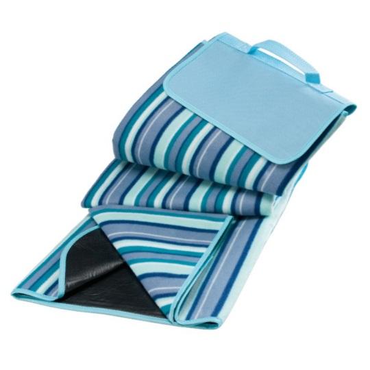 Pikniková deka RIVIERA s PVC stranou - modrá pruhovaná